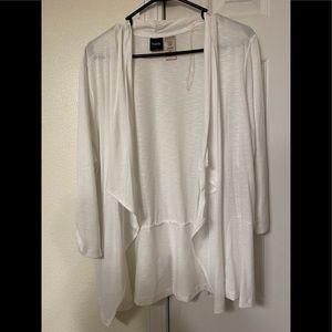 Women's thin white cardigan